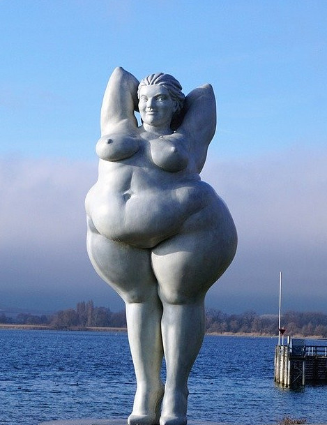 Obese lady is just that
