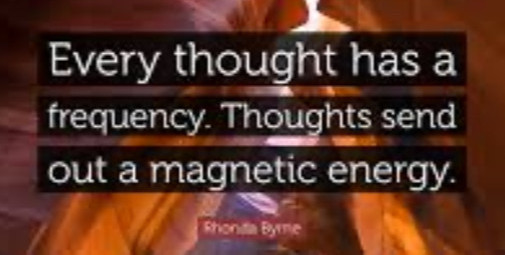 The magnetization of thought energy