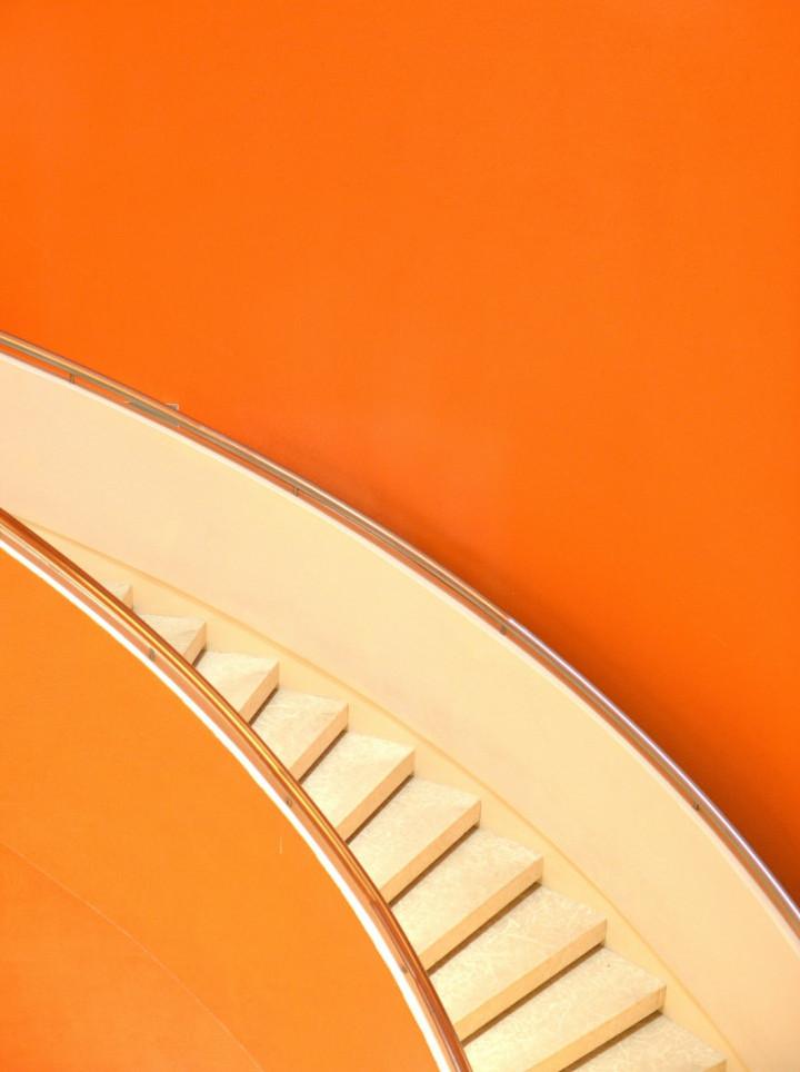 Orange stairs to sweetness